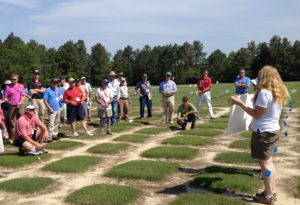 Participants at Sandhills Regional Turfgrass Conference and Field Day presentation