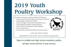 Wilkes Youth Poultry Workshop flyer excerpt