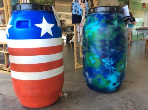Painted rainbarrels