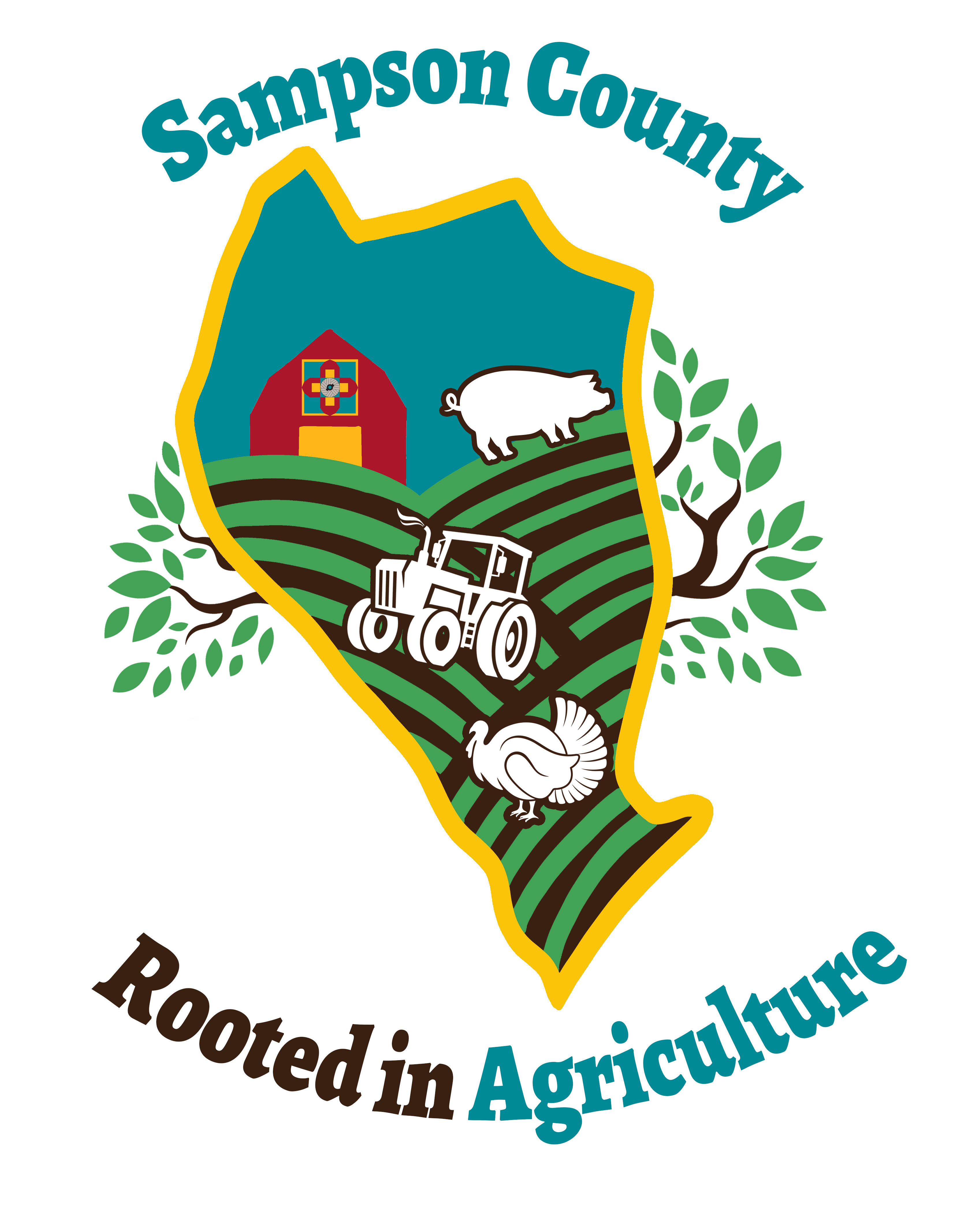 Sampson County Rooted in Agriculture logo