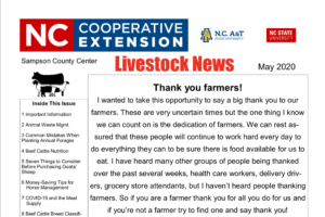 Cover photo for May Issue of Livestock New Is Here!