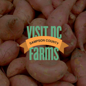 Visit NC Farms Logo with Sweet Potatoes