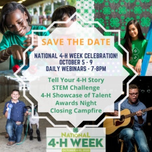 National 4-H Week Celebration poster
