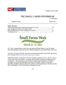 Cover photo for Small Farms Newsbreak Newsletter