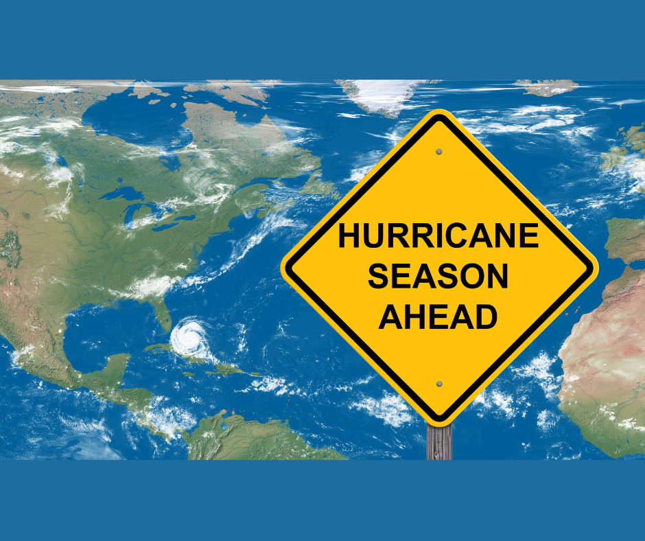 Hurricane Season Ahead sign
