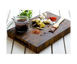 Spices on a table